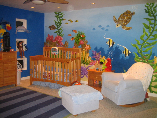 Sea life nursery stacey kurtz art for Room decor under 10